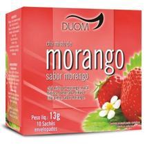 Chá Misto de Morango, maçã, hibisco, beterraba, limão e chá preto, sabor morango 13g 10 Saches Duom -