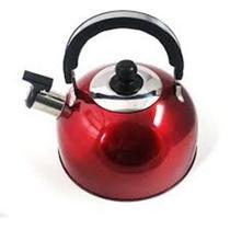 Chaleira Color Com Aviso Sonoro 2,5 l - Vermelha - Wellmix