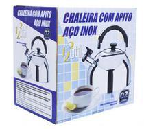 Chaleira Com Apito Aço Inox 2 Litros - 123Útil