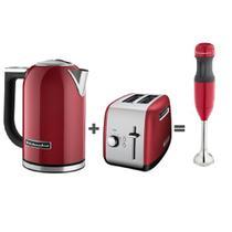 Chaleira Elétrica 1,7l + Torradeira + Mixer de Mão 2 velocidades Kitchenaid -