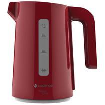 Chaleira elétrica Cadence 110v vermelho thermal one 1200w ferve água em poucos minutos 1,7l - Mallory