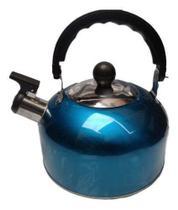 Chaleira Em Aço Inox Com Apito E Alça Térmica 2 Litros - 123 util - 123Util
