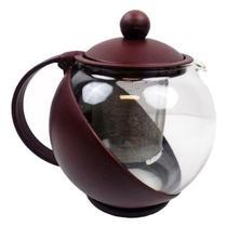 Chaleira Em Vidro Com Infusor Coador De Chá 750 Ml - Aurora