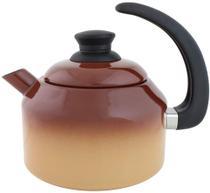 Chaleira Esmaltada Marrom degradê 1500 ml - Ewel -
