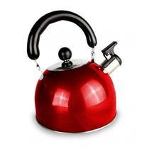 Chaleira Inox Basic Collor 2L Vermelha BaKehome -