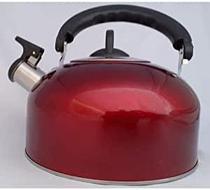 Chaleira Vermelha Com Apito E Cabo Móvel 2L - Fratell Inox
