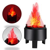 Chama Efeito Fogo Artificial Realista Para Eventos e Ambientes Coloniais LED 3W - DS9931 -