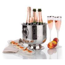 Champagneiras Inox com Base Coletora Alças e Grelha Separadora Destacável 6 Litros Forma -