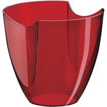 Champanheira Modular Vermelha Translúcida Poliestireno 4 Litros - Boccati