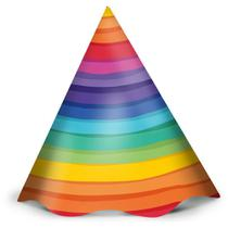 Chapéu Aniversário Arco Íris 12und - Regina