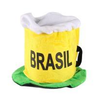 Chapéu Cartola Caneca de Chopp Torcida Brasil Copa 2018 - Aluá festas
