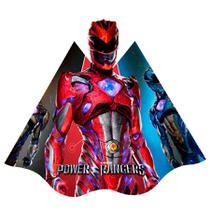 Chapéu de Aniversário Power Rangers 08 unidades Regina Festas - Festabox
