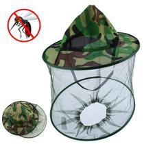 Chapéu de Pesca Com Mosquiteiro - Camuflado Anti-Inseto - Fisgar