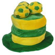 Chapéu Listrado Torcida do Brasil Copa do Mundo QMM-004 - Commerce brasil