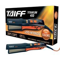 Chapinha de Cabelo Taiff Titanium 450 Colors Laranja - Bivolt -