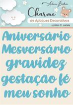 Charme De Apliques Acrílico Decorativos Palavras Baby Azul - Scrap By Antonio
