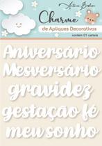 Charme De Apliques Acrílico Decorativos Palavras Baby Branco - Scrap By Antonio