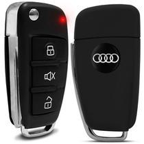 Chave Canivete Audi com Lâmina Para Alarmes Pósitron Até 12 + Emblema Audi - F.S.