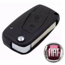 Chave Canivete Carcaça Fiat - 3bts (Cor Preto) Estilo / Palio / Idea / Strada -