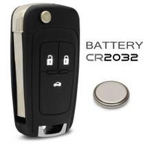 Chave Canivete Chevrolet 3 botões Onix Cobalt Cruze Prisma Sonic 2013 a 2018 + Bateria -