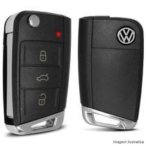 Chave Canivete Volkswagen 3 Botões com Lâmina e Circuito Interno para Alarme Automotivo Pósitron - KX3