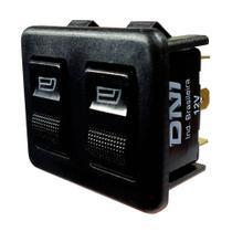 Chave Comutadora de Vidro Elétrico Duplo - 12V - DNI 2014 -