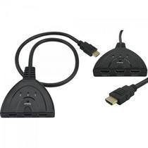Chave Seletora 3 Entradas HDMI 1 Saída HDMI Preto PIX -