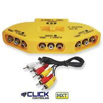 Chave seletora audio & video c/cabo rca  mxt -