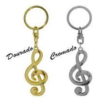 Chaveiro Clave De Sol Metal Formato Paganini ( Unidade ) -