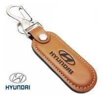 Chaveiro Hyundai em Couro Com Mosquetão - Bendito Chaveiro