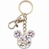 Chaveiro Mickey Dourado com prendedor - Disney - Disney - Taimes