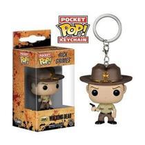 Chaveiro Pocket POP! Funko The Walking Dead - Rick Grimes - Aliança Geek