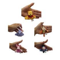 Chaveiros da Turma do Pooh com 5 personagens para mochila e agarradinhos - Mundo Da Pelúcia