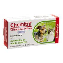 Chemitril 50 mg Antibiótico  Chemitec 10 Comprimidos -
