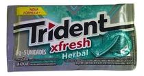 Chiclete Trident Fresh Herbal 8gr C/21 - Adams -