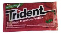 Chiclete Trident Morango 8gr C/21 - Adams -