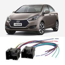 Chicote Hyundai HB20s 2012 a 2020 Adaptador Rádio DVD CD Multimídia - Ludovico