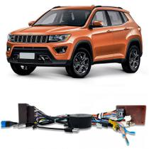 Chicote Plug and Play Jeep Compass 2017 a 2020 Para Multimidia Android Faaftech -