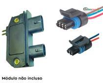 Chicote Plug Conector Modulo Rey Monza Kadett Ipanema - Par - Tc Chicotes