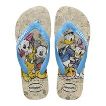 Chinelo Havaianas Disney Stylish Turma do Mickey Bege e Azul -