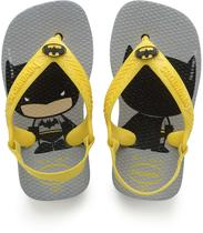 Chinelo Havaianas Infantil NEW BABY Herois 21 Cinza ACO