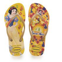 Chinelo Havaianas Infantil Princesas SLIM 33/4 Amarelo -