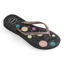 Chinelo Havaianas Kids Slim Fashion Brilho Feminino -