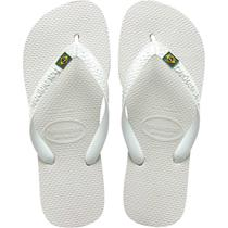 Chinelo Havaianas Masculino Brasil 41/2 Branco -