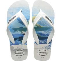 Chinelo Havaianas Masculino SURF 37/8 Branco -