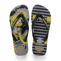 Chinelo Havaianas Masculino THE Simpsons 37/8 Cinza ACO
