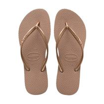 Chinelo havaianas slim rose gold -