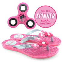 Chinelo Infantil Feminino Borracha Estampado Barbie Spinner Game 21809 - 25 ao 32 -