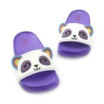 Chinelo Plugt Slide Panda Roxo -