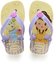 Chinelo Princesas BABY 23/4 Amarelo - Havaianas